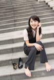 Resto della donna di affari Fotografie Stock Libere da Diritti