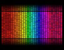 Il reticolo del suono digitale livella Fotografie Stock