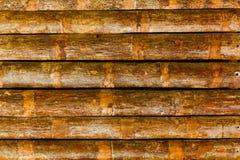 Il reticolo di vecchia parete di legno Fotografie Stock Libere da Diritti