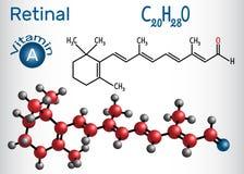 Il retinaldehyde retinico è vitamina A E Fotografia Stock