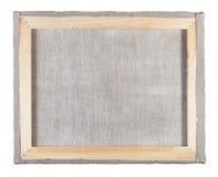 Il retro di tela ha allungato su una struttura di legno Immagine Stock Libera da Diritti