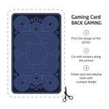 Il retro di una carta da gioco per il black jack l'altro gioco con Fotografia Stock