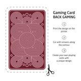 Il retro di una carta da gioco per il black jack l'altro gioco con Immagini Stock