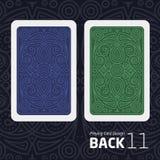 Il retro di una carta da gioco per il black jack l'altro gioco con un modello Fotografie Stock