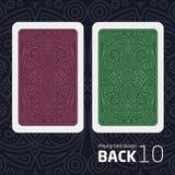 Il retro di una carta da gioco per il black jack l'altro gioco con un modello Fotografia Stock Libera da Diritti