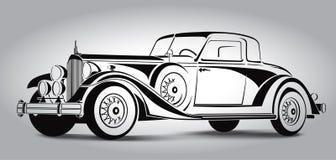 Il retro estratto dell'automobile allinea il vettore Illustrazione di vettore Immagini Stock