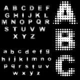 Il retro semitono punteggia gli alfabeti Immagini Stock