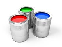 Il RGB vernicia le latte Fotografia Stock Libera da Diritti