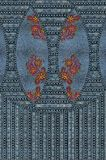 Il ricamo dei jeans fiorisce la struttura blu fotografie stock libere da diritti