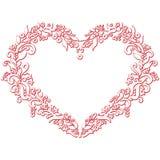 Il ricamo ed il ritaglio pieghi di San Valentino hanno ispirato la forma del cuore Fotografia Stock Libera da Diritti