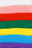 Il ricamo multicolore filetta la priorità bassa Fotografie Stock