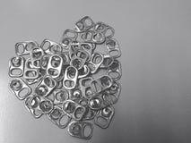 Il riciclaggio del coperchio di alluminio può essere usato per fare le gambe artificiali Fotografia Stock