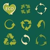 Il riciclaggio delle icone ha messo le collezioni. illustrazione di stock