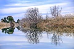 Il riflesso del fiume Fotografia Stock Libera da Diritti