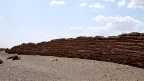 Il rimanere della grande muraglia di dinastia di Han Fotografia Stock Libera da Diritti