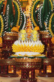 Il riso che offre per le reliquie knighting di parata del Buddha Immagine Stock Libera da Diritti