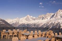 Il ristorante alpino fotografia stock libera da diritti