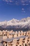 Il ristorante alpino Immagine Stock Libera da Diritti