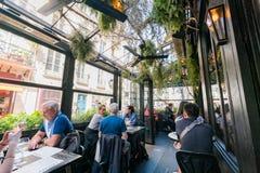 Il ristorante famoso di L'Escargot Montorgueil immagini stock