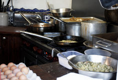 Il ristorante kitcken fotografie stock