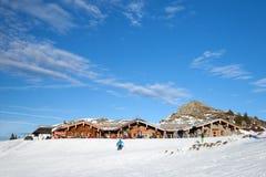 Il ristorante in montagne Fotografia Stock