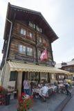 Il ristorante nel ¼ di MÃ rren, la Svizzera Immagini Stock Libere da Diritti