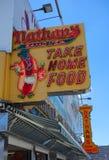 Il ristorante originale del ` s di Nathan a Coney Island, New York Immagini Stock Libere da Diritti