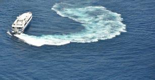 Il risveglio del mare Immagini Stock Libere da Diritti