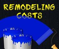 Il ritocco costa l'illustrazione dell'impresa di ristrutturazione 3d della Camera delle esposizioni Immagine Stock