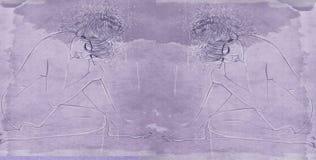 Il ritratto dell'insegna della donna con capelli spessi ha progettato per i cosmetici ed il modo Fotografie Stock