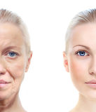 Il ritratto della donna 20,60 anni. Fotografie Stock Libere da Diritti