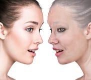 Il ritratto della donna 20,60 anni Immagini Stock