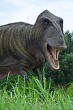 Il ritratto di una delle ricostruzioni del tirannosauro mesozoico Fotografie Stock