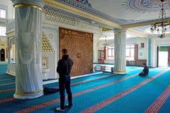 Il rituale della moschea di Tunahan di culto ha concentrato nella preghiera, Costantinopoli, T Fotografie Stock