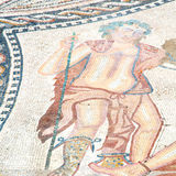 il ro del mosaico nella vecchia città Marocco Africa e la storia viaggiano Immagini Stock Libere da Diritti