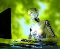 Il robot Immagini Stock Libere da Diritti