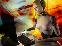 Il robot Fotografie Stock Libere da Diritti