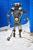 Il robot dai pezzi meccanici fotografia stock