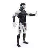 Il robot dice l'arresto Immagine Stock