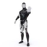 Il robot dice stop2 Immagini Stock