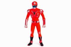 Il robot gioca il rosso su bianco Fotografie Stock Libere da Diritti