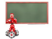 Il robot rosso Fotografie Stock