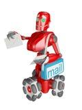 Il robot rosso Immagini Stock Libere da Diritti