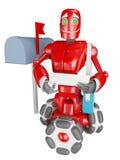 Il robot rosso Fotografia Stock Libera da Diritti