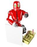 Il robot rosso Immagine Stock