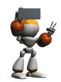 Il robot sveglio sta prendendo un'immagine solo Fotografie Stock