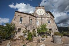 Il Rocca Abbaziale, dei Borgia di Rocca Subiaco, Italia Fotografia Stock