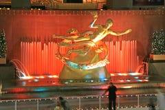 Il Rockefeller NYC concentrare Immagini Stock