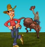 Il rodeo Immagine Stock