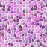 Il rosa ha colorato il fondo senza cuciture di mosaico di struttura pietrosa di plastica irregolare di marmo astratta del modello fotografia stock